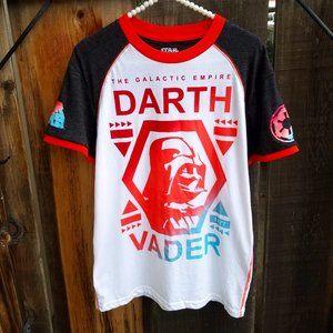 Ombré Darth Vader Ringer Baseball T Shirt
